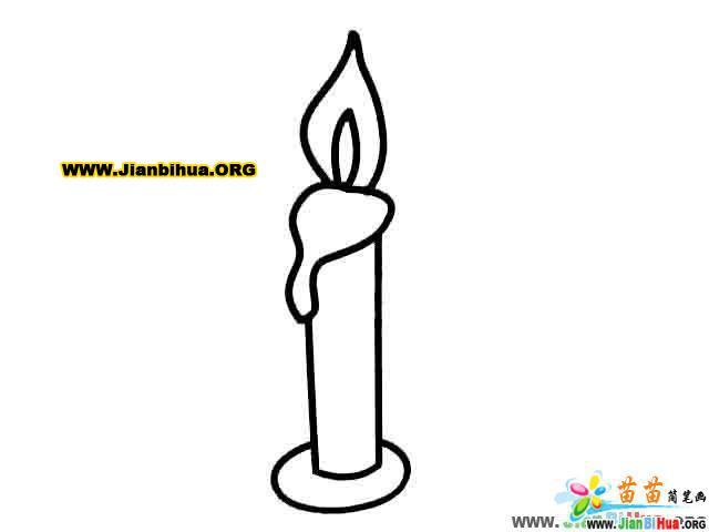 台灯简笔画 蜡烛简笔画 手机简笔画 电话简笔画日常用品图.