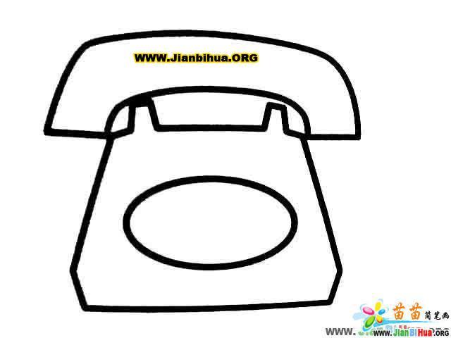 台灯简笔画 蜡烛简笔画 手机简笔画 电话简笔画日常用品图片 第4张