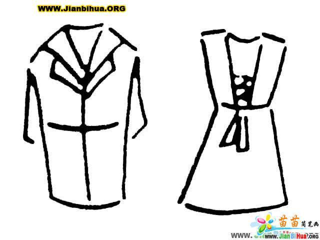 衣服简笔画图与画法 第9张