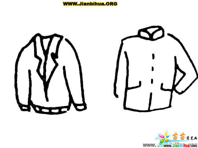 现代服装简笔画