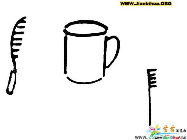 雨伞简笔画 扇子简笔画 茶杯简笔画 梳子简笔画 晾衣架简笔画 第3张