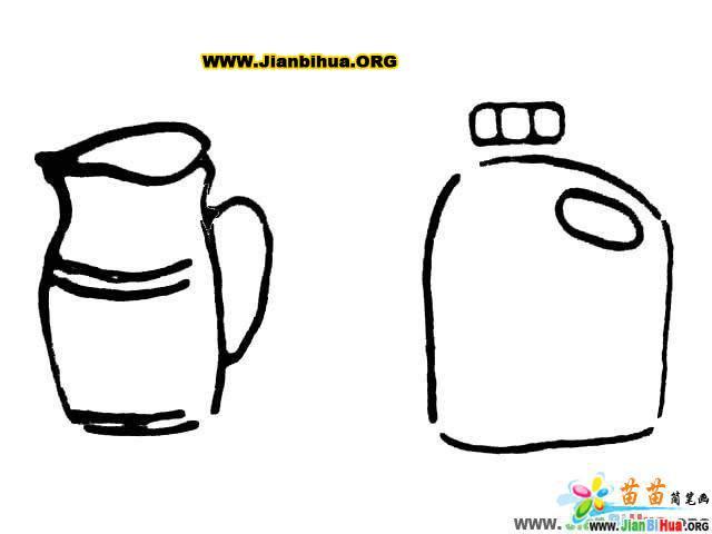 茶杯简笔画_茶壶简笔画_油壶简笔画_瓶子简笔画_钥匙简笔画
