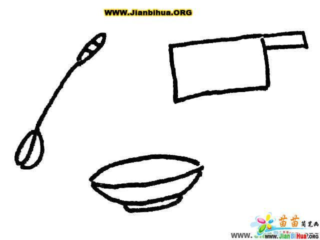 厨具勺子简笔画_铲子简笔画_茶壶简笔画_酒杯简笔画_刀简笔画_桶简笔画图片大全