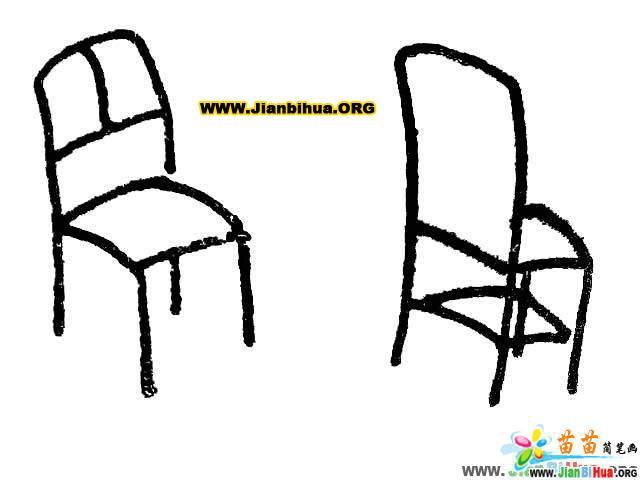 沙发简笔画 椅子简笔画 凳子简笔画 桌子简笔画 衣柜简笔画 第2张