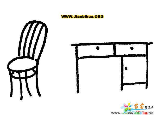 沙发简笔画_椅子简笔画