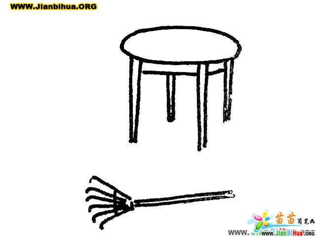 幼儿双手搬椅子简笔画_欧美风幼儿园_幼儿简笔画牙-梨子网