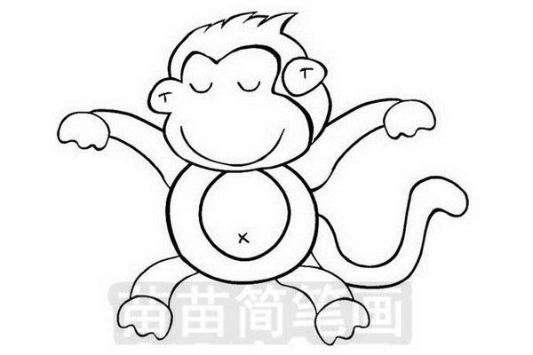 小猴子简笔画