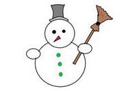 雪人简笔画怎么画简单又漂亮