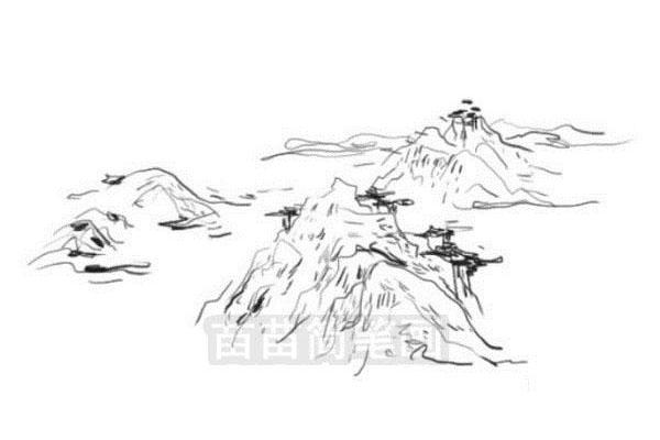山水简笔画