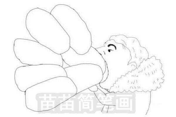 王思聪吃热狗简笔画