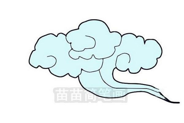 云朵简笔画