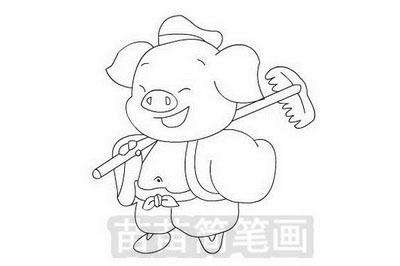 猪八戒简笔画
