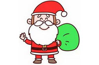 圣诞老人简笔画怎么画简单又漂亮(二)