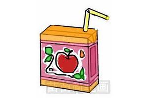 苹果果汁简笔画