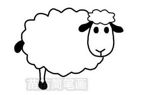 绵羊简笔画怎么画