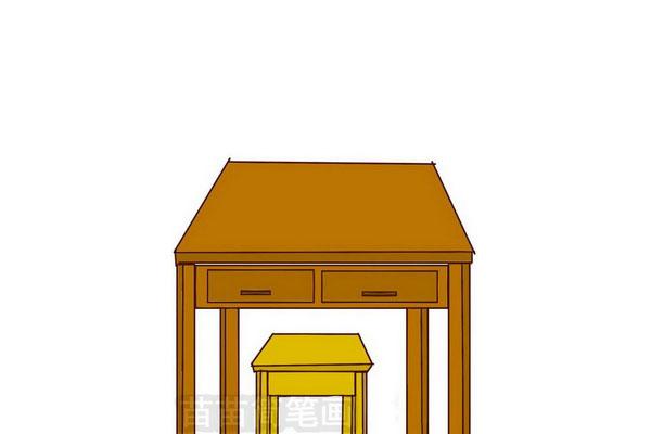 书桌和板凳简笔画