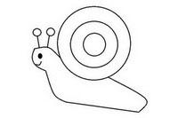 小蜗牛简笔画怎么画