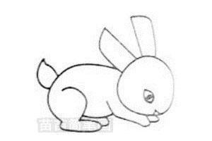 小白兔简笔画