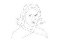 足球运动员梅西简笔画怎么画