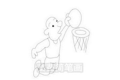 打篮球简笔画