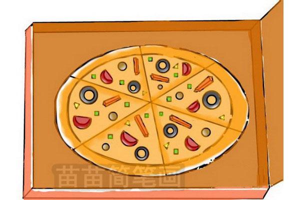 披萨简笔画