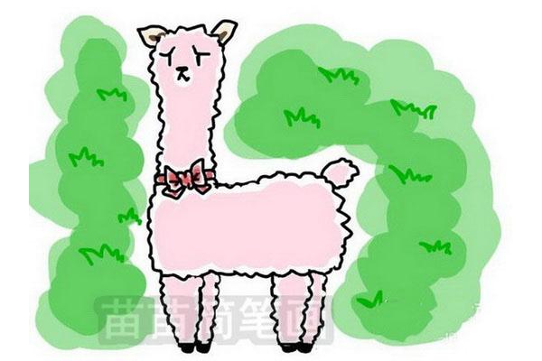 羊驼简笔画
