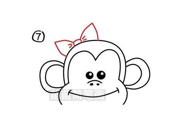 大嘴猴简笔画