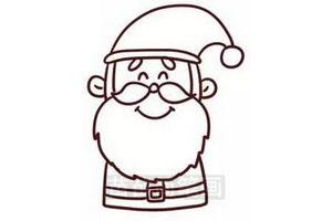 圣诞老人简笔画怎么画