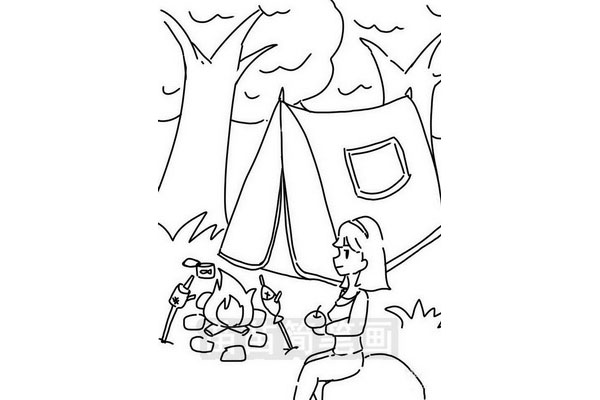 野营帐篷简笔画