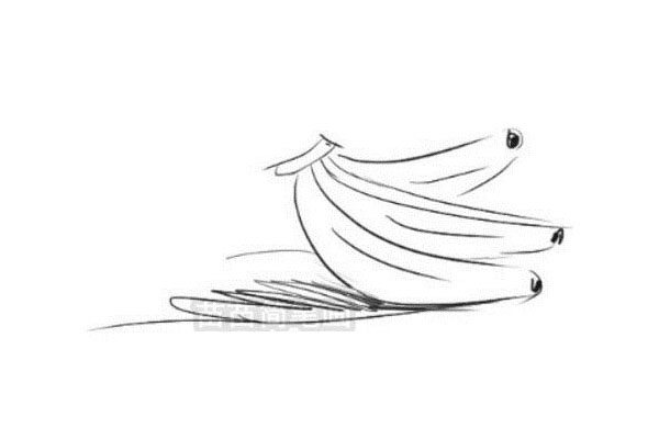 香蕉简笔画