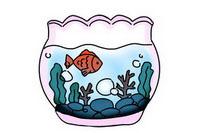 鱼缸简笔画怎么画