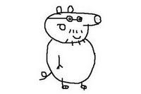 猪爸爸简笔画怎么画
