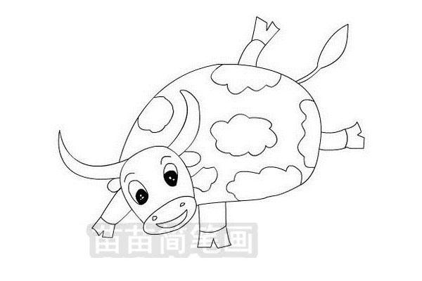 小牛简笔画