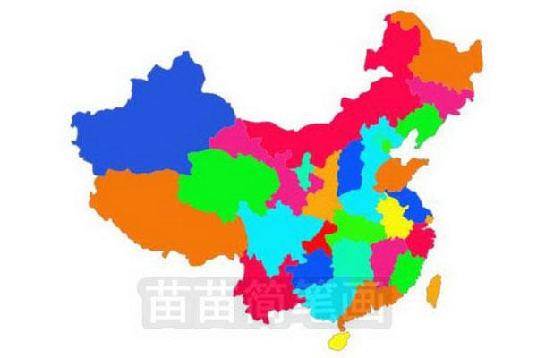 中国地图简笔画