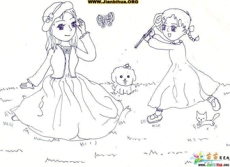 原创卡通女孩简笔画图片(7张)