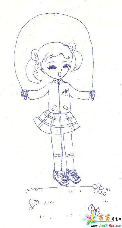 原创卡通女孩简笔画图片(7张)(第2张)