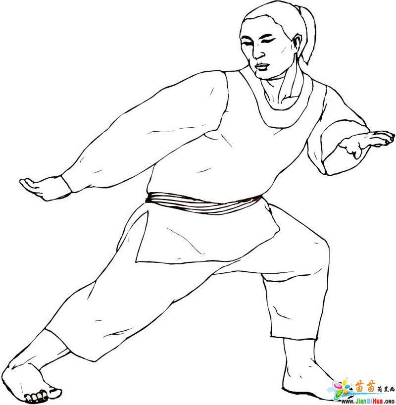 中国武术简笔画作品欣赏