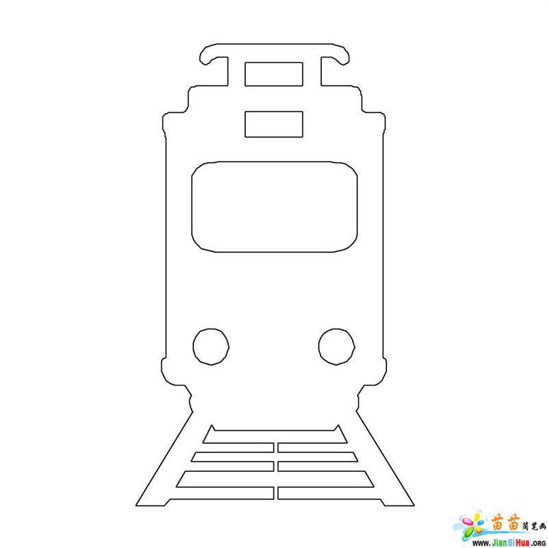 火车简笔画的画法12张