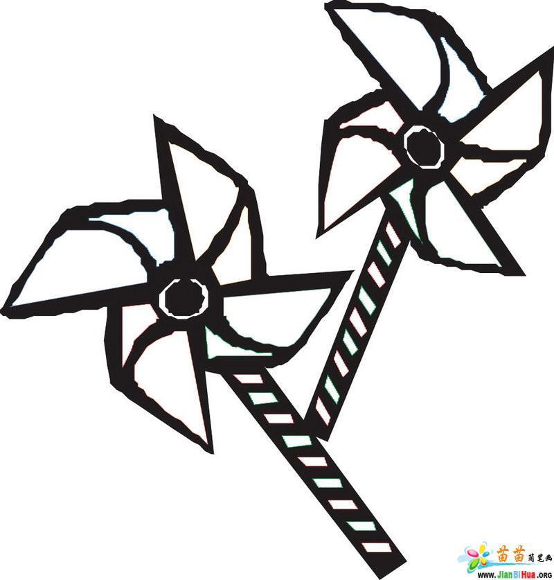 儿童玩具简笔画 风车