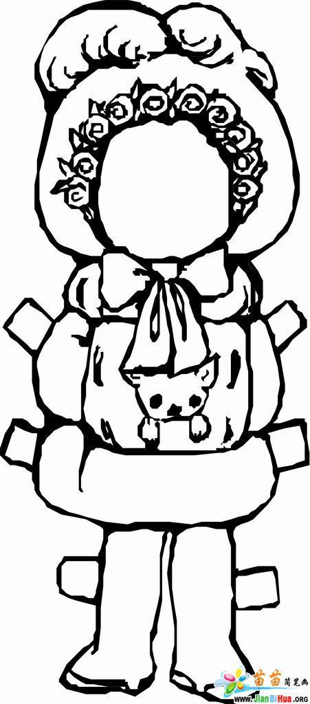 泮娃娃简笔画图片4张(儿童玩具)(第2张)