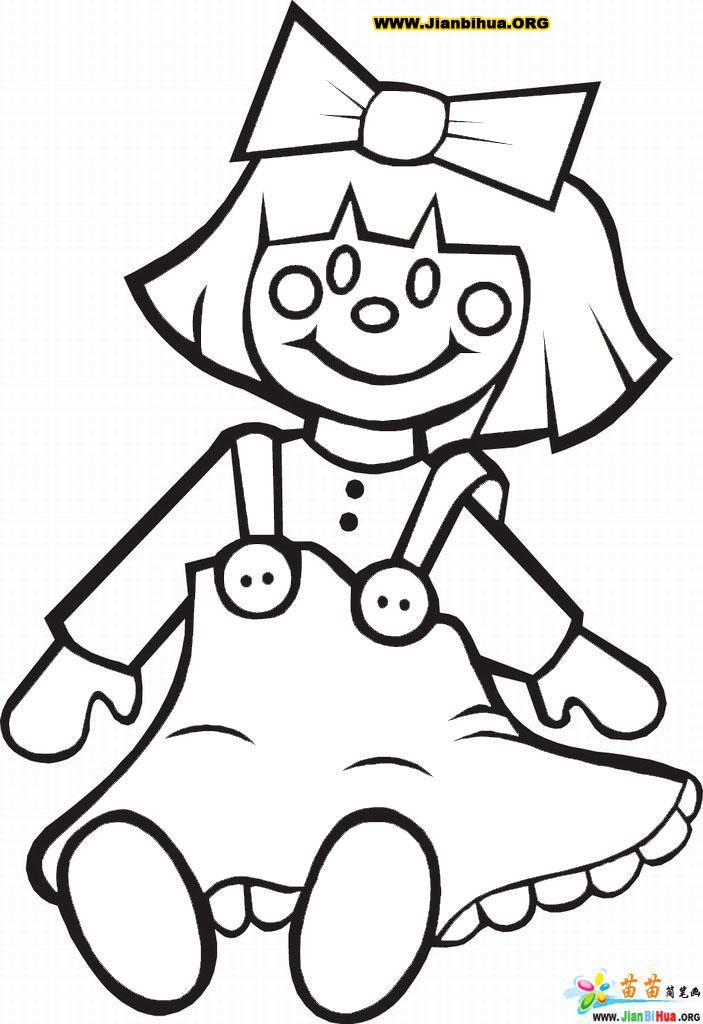 泮娃娃简笔画图片4张(儿童玩具)(第3张)