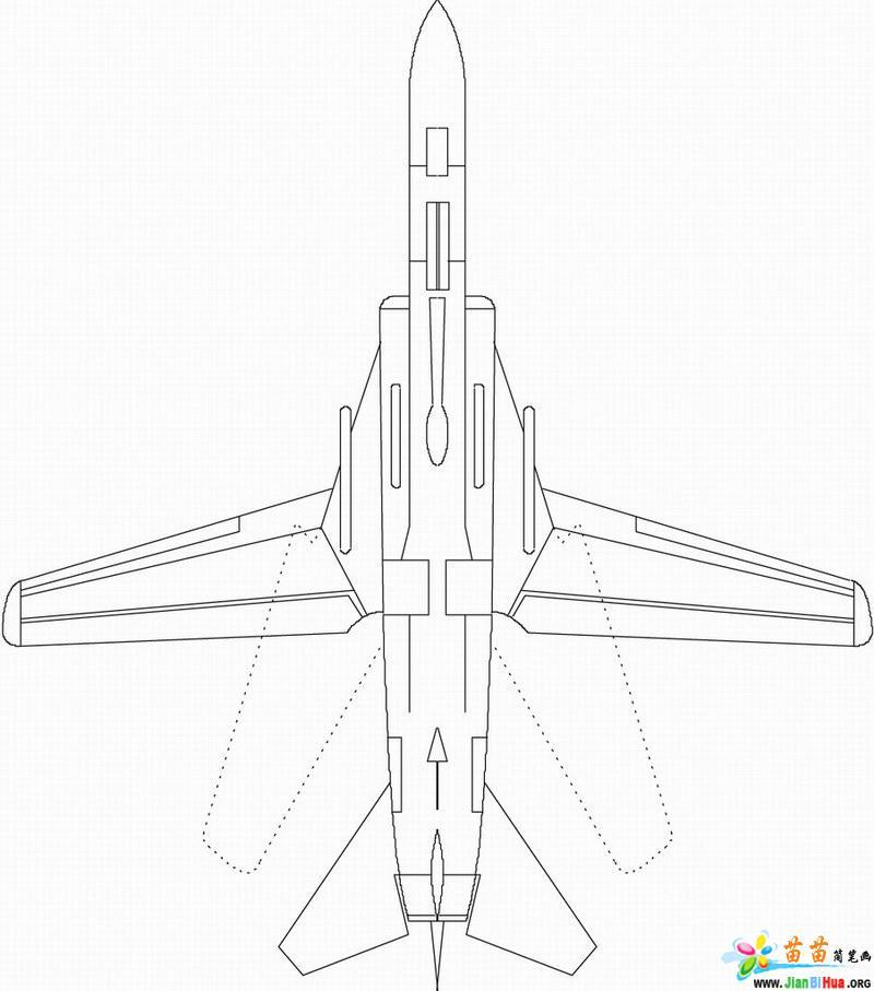 中国的战斗机简笔画