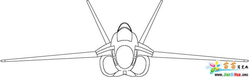 飞机简笔画的画法——轰炸机10张(第10张)