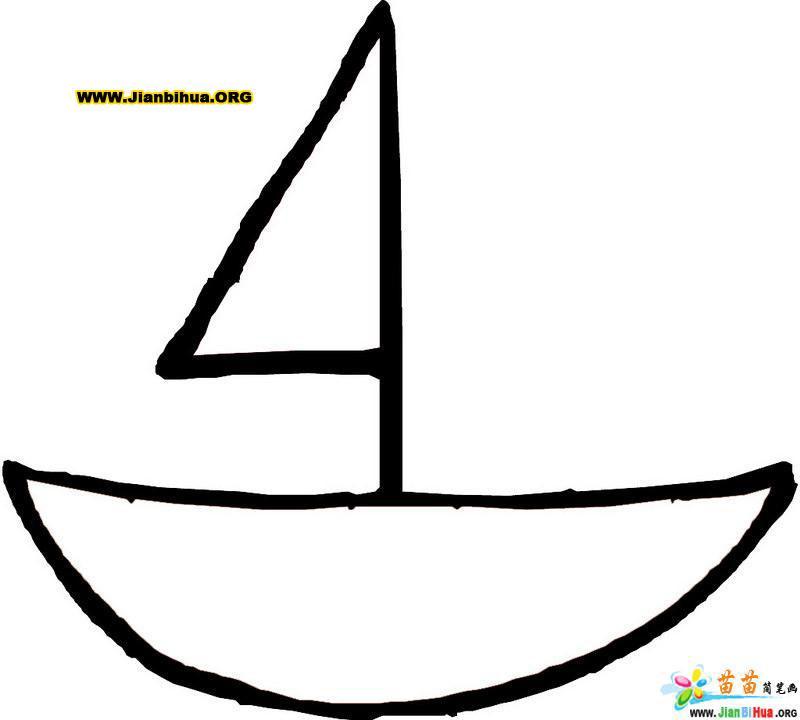 小船儿简笔画作品12张第2张图片