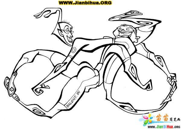 幽默搞笑的自行车漫画图片15张_简笔画_51自学网
