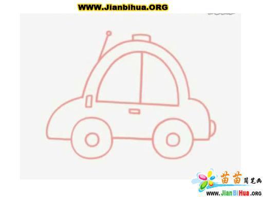 小汽车简笔画图片大全12张