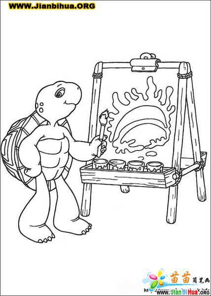 卡通乌龟简笔画大全,,卡通图片简笔画乌龟