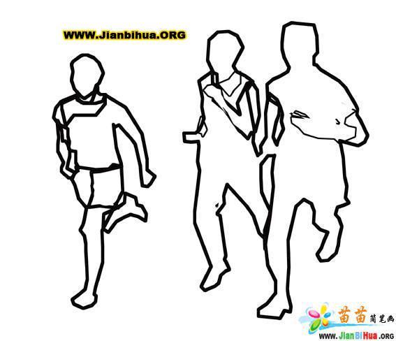 赛跑的简笔画图片6张