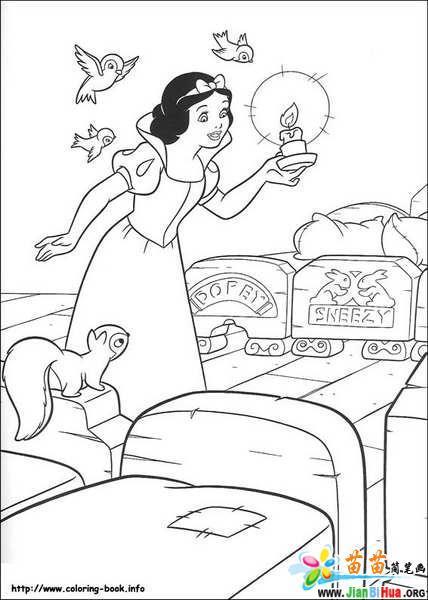 迪斯尼简笔画 白雪公主21张 第3张