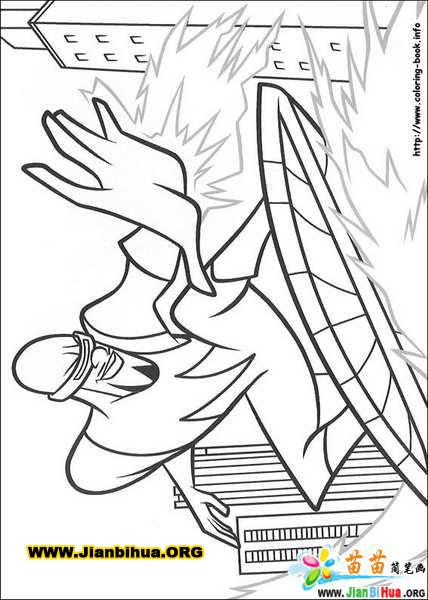 迪斯尼之超人总动员简笔画24张